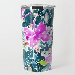 HIBISCUS POP FLORAL Travel Mug