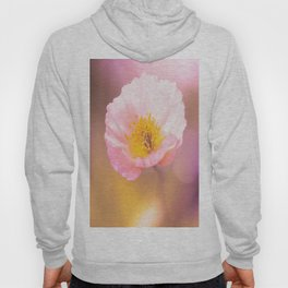 Pink poppy on a purple background with bokeh - colorful nature Hoody