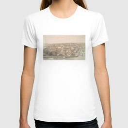 Vintage Pictorial Map of Charleston SC (1851) T-shirt