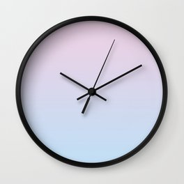 Pastel Ombre Millennial Pink Blue Gradient Pattern Wall Clock