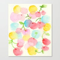 cherry blossom Canvas Prints featuring cherry blossom by zeze