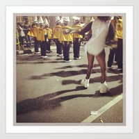 Mardi Gras, High school Brass Bands are the coolest. Art Print