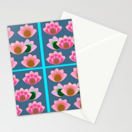 Pink lotus field Stationery Cards