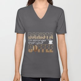 Barista funny saying | coffee coffee bean Unisex V-Neck