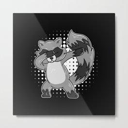 Dabbing Raccoon Dab-Move Raccoon Metal Print