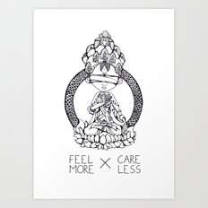 FeelMore x CareLess Art Print