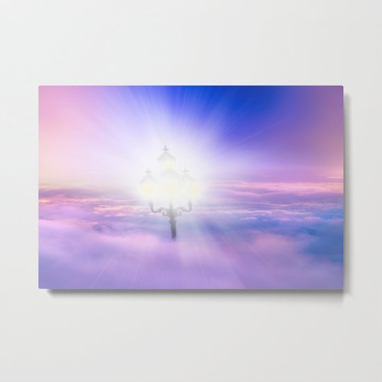 Lights Above the Clouds Metal Print