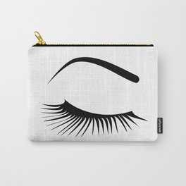 Closed Eyelashes Right Eye Carry-All Pouch
