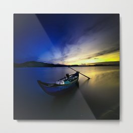Lonely Sunset Metal Print