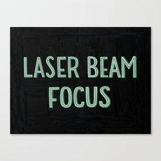Laser Beam Focus Canvas Print