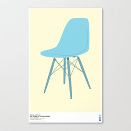 EAMES Ray & Charles Eames Molded Side Chair Canvas Print