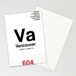 Vancouver City Poster Stationery Cards