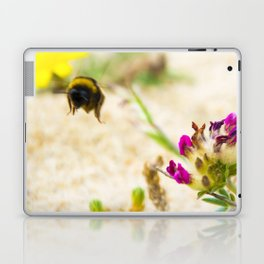 the flight of bumble bee on the bunes Laptop & iPad Skin