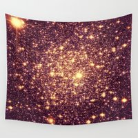 rose gold Wall Tapestries featuring Rose Gold by GalaxyDreams