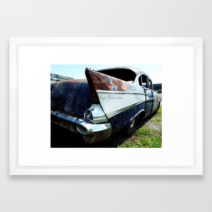 Chevy Bel Air Framed Art Print By Historicrpm Society6