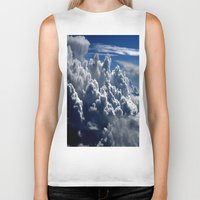 clouds Biker Tanks featuring clouds by  Agostino Lo Coco