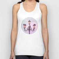 lanterns Tank Tops featuring MAGICAL VENICE | Pink Lanterns by INA Artist