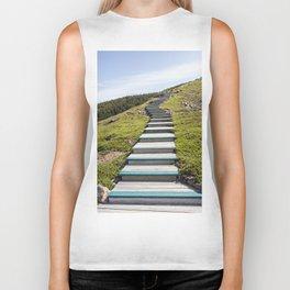 stairs up the hillside Biker Tank