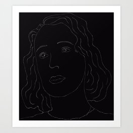 Lineart Edith Piaf Art Print