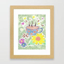 Strong cup of coffee Framed Art Print