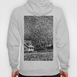House In The Mountains  - Black And White Hoody