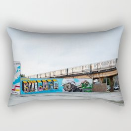 Chicago El and Mural Rectangular Pillow