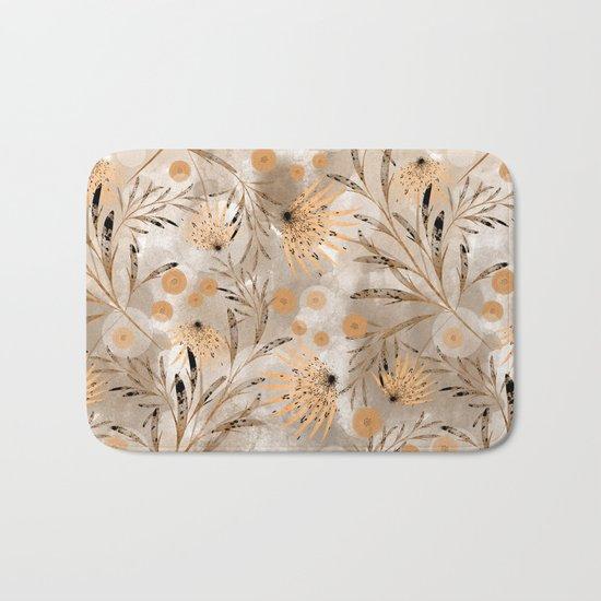 Beige floral pattern. Bath Mat