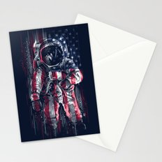 Astronaut Flag Stationery Cards
