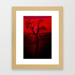 Red Chasm Framed Art Print
