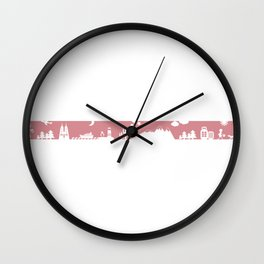 Find your angle_Travel_MonoPink Wall Clock