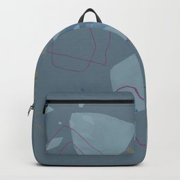 Slate Gray Minimalist Abstract Backpack