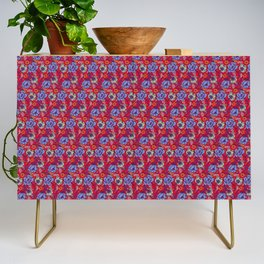 Red and blue Credenza