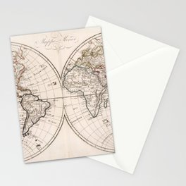 Vintage Map of The World (1804) Stationery Cards