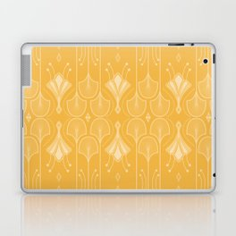 Lily Lake - Retro Floral Pattern Curry Laptop & iPad Skin