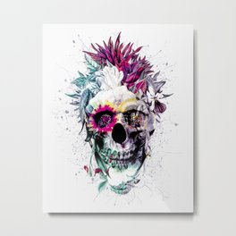 Skull Punk IV Metal Print