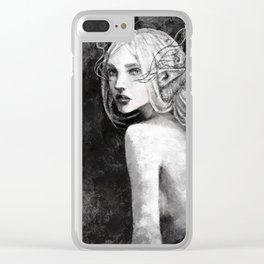 Lavellan black and white Clear iPhone Case