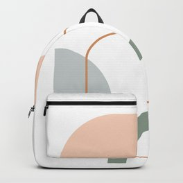 Organic Shapes Collage 2 in Neutral Earth Tones Backpack