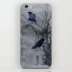 Crows In A Gothic Gray Wash iPhone & iPod Skin