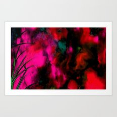 FACE IN THE DARK-ABSTRACT Art Print