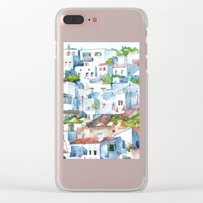 Panorama of Lindos Clear iPhone Case
