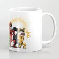 power rangers Mugs featuring infinite rangers by yum'
