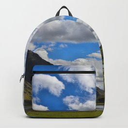 Highland Blue and Green Backpack