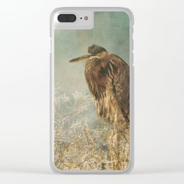 North Carolina Heron Clear iPhone Case