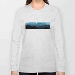 Powerlines in Japan - minimalist mountains Long Sleeve T-shirt