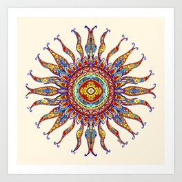 Sun Salutation Art Print