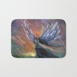 Rainbow Phoenix Fairy Bath Mat