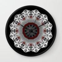 nirvana Wall Clocks featuring Nirvana by Mr. Pattern Man