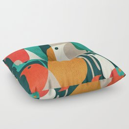 Flock of Birds Floor Pillow