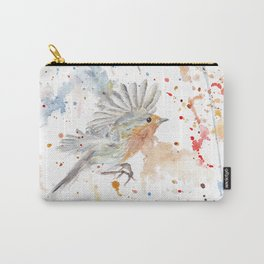 "Watercolor Painting of Picture ""Robins"" Carry-All Pouch"