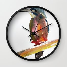 Azure Kingfisher Wall Clock